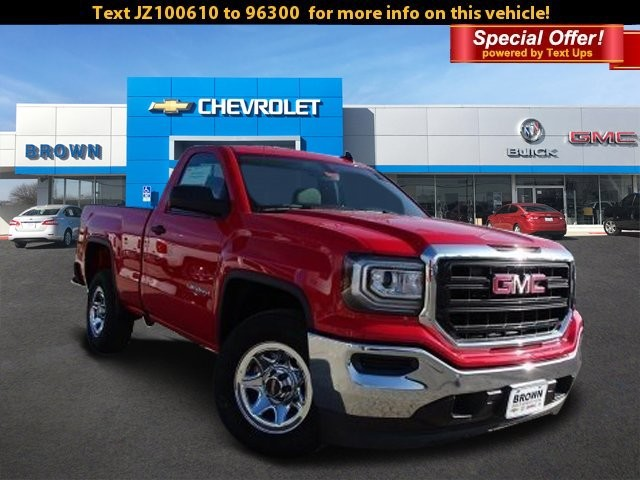 New 2018 GMC Sierra 1500 2WD Regular Cab 119.0