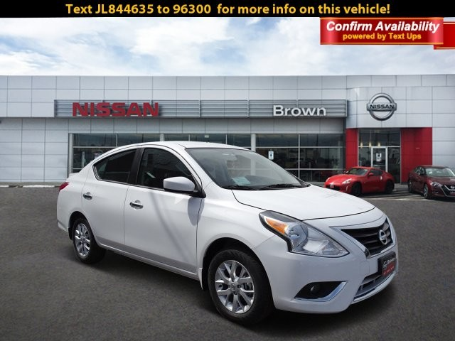 new 2018 nissan versa sedan sv 4dr car in southwest texas 6085 brown auto stores. Black Bedroom Furniture Sets. Home Design Ideas