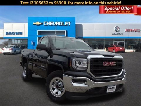 New 2018 GMC Sierra 1500 2WD Regular Cab 119.0 Rear Wheel Drive Standard Bed